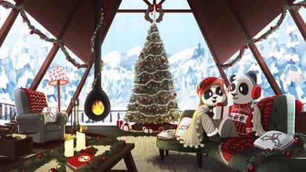 Funky Panda YouTube Art - December 2018 by petirep