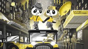 Funky Panda Youtube Art - Swing in Spring 2020