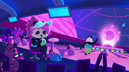 Funky Panda Youtube Art - April 2021