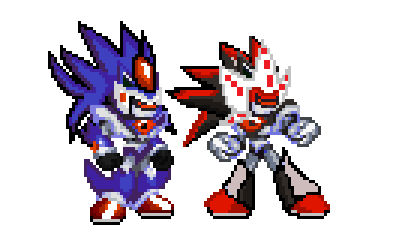 Original Mecha Sonic and Mecha Shadow by AlphaBeastSigma