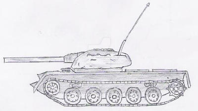 Thelander Medium Tank (1950-2005) by AluinRenard