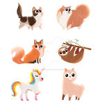 Cute Chibi Animals Commission