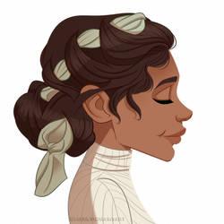 Hair Scarf by marilyndraws