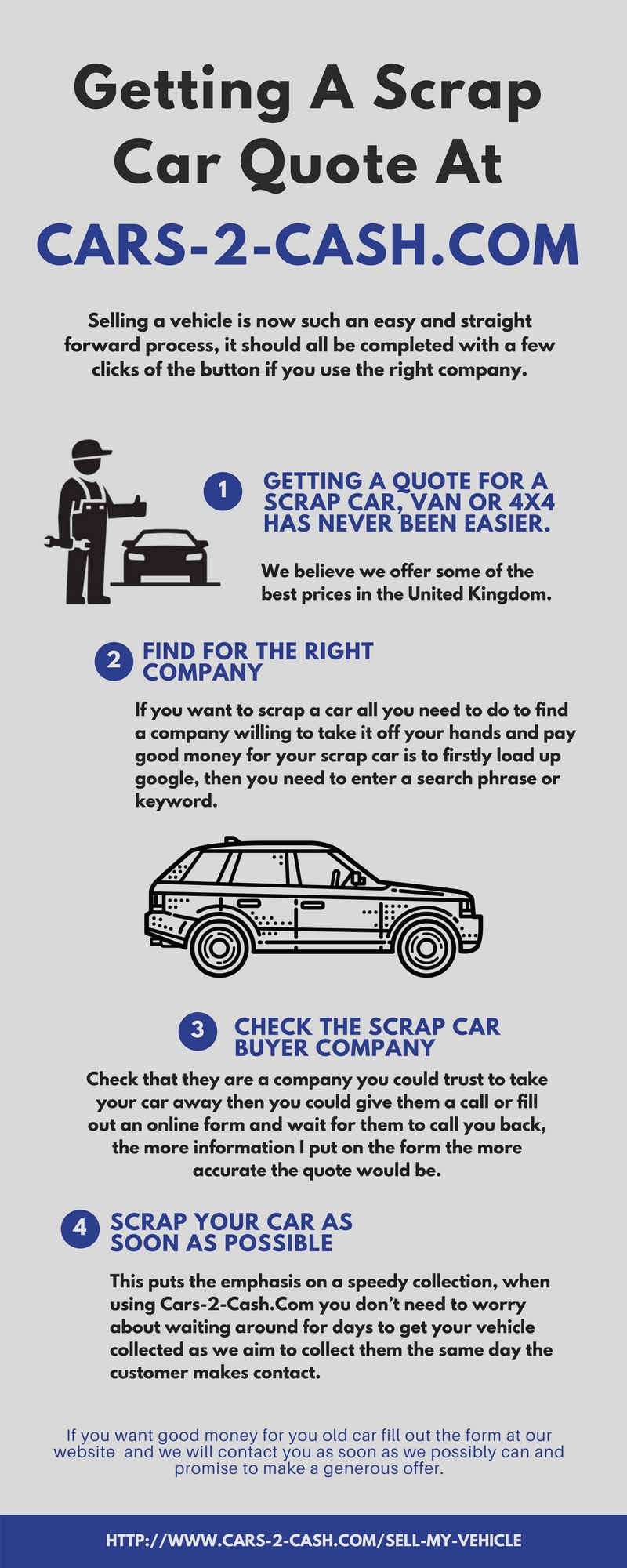 getting a scrap car quote at cars 2 cash by cashforjunkcar
