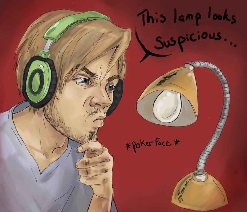 Suspicious lamp - Pewdiepie by ab-lynx