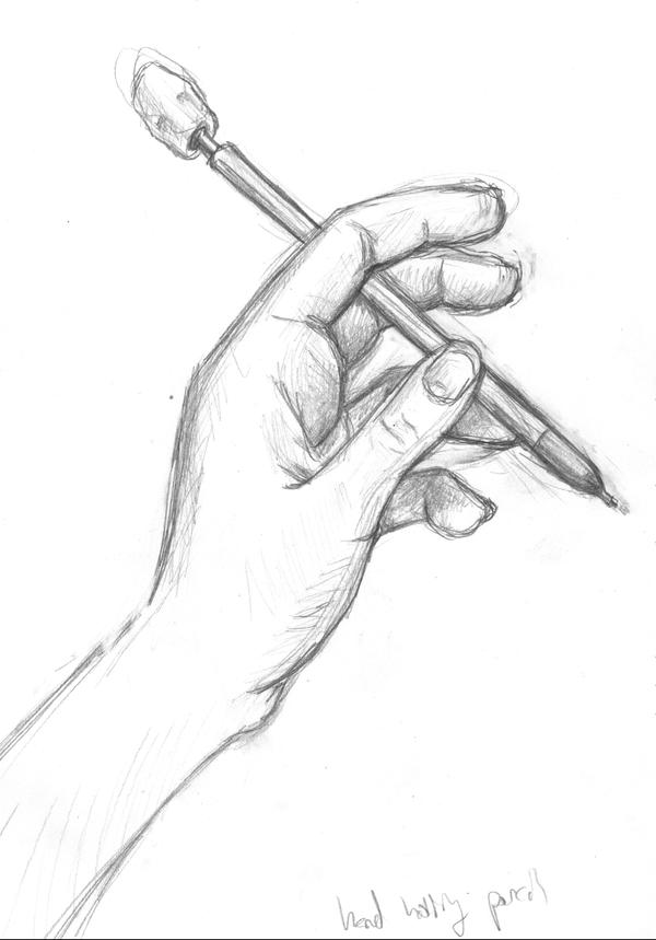 Hand holding pencil by ab-lynx on DeviantArt