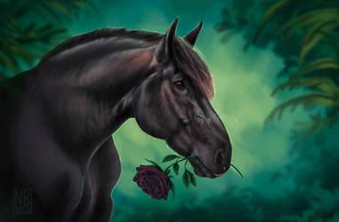 Black the Percheron