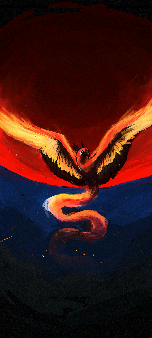 Fire moon by Silver-Drake
