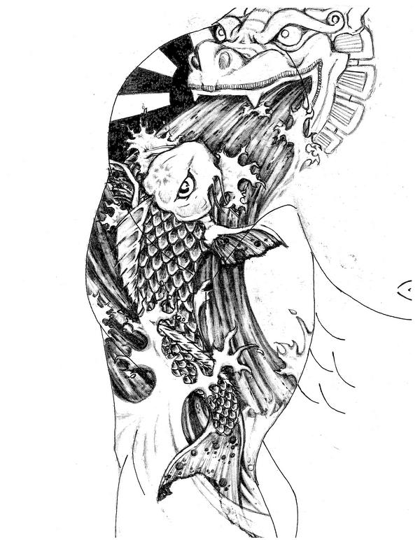 Koi Fish Tattoo By Scotthallmeyer On Deviantart