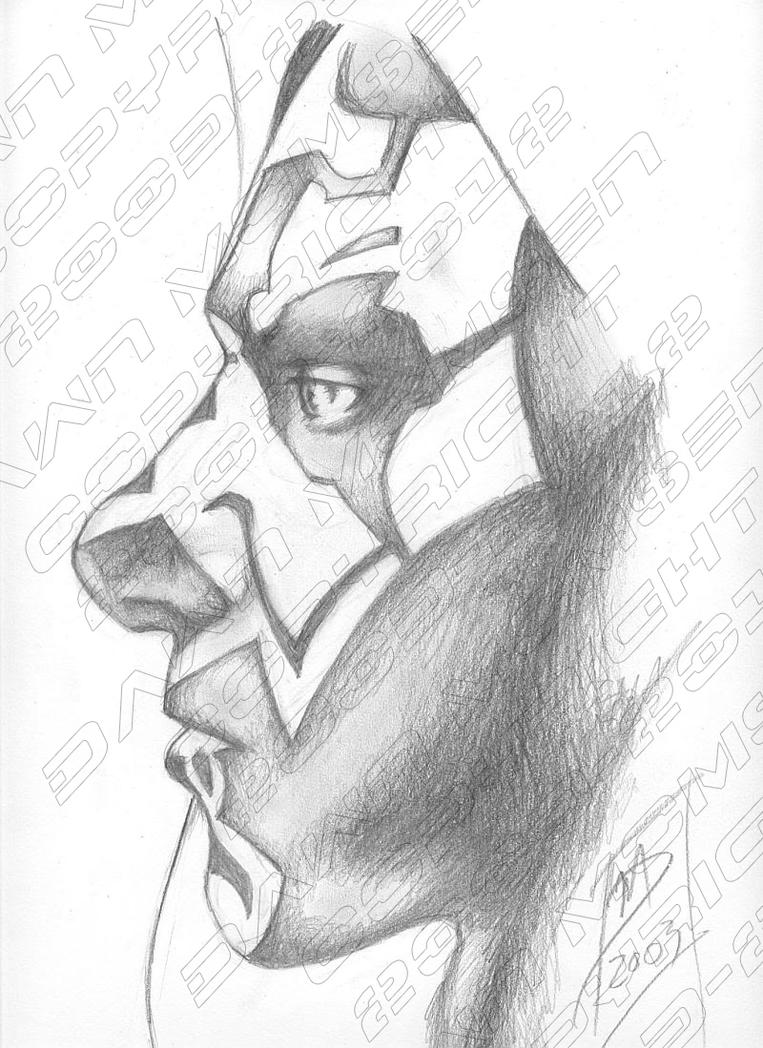 Maul Profile (graphite) by LadySythe