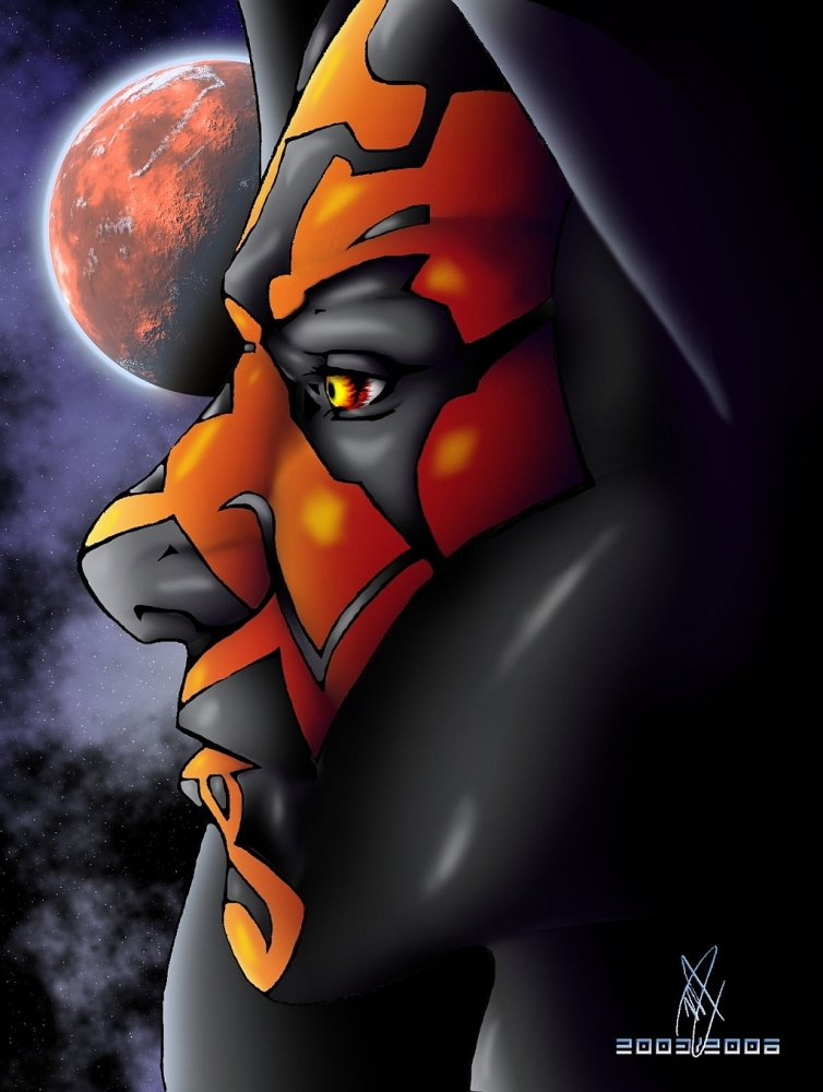 Maul Profile (colored) by LadySythe