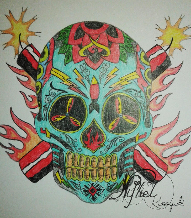 Expendables Tattoo Wallpaper Expendable Tattoo Drawing By: The Expendables I (sugar Skull Logo) By NifhelKuroyuki On