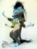 Domino Twist the Hyena Room Guardian by AnyaBoz