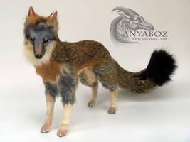 Hyper Realistic Grey Fox Room Guardian by AnyaBoz