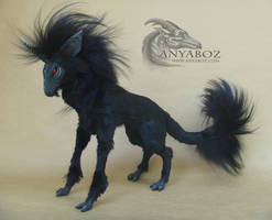Dark Unicorn Room Guardian by AnyaBoz