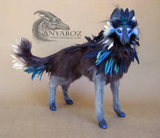 Haru the Wolf Room Guardian by AnyaBoz