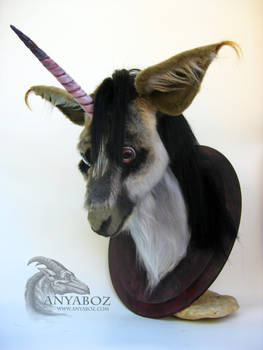 African Unicorn Head Mount