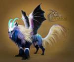 Prismatic Wolf Dragon Room Guardian