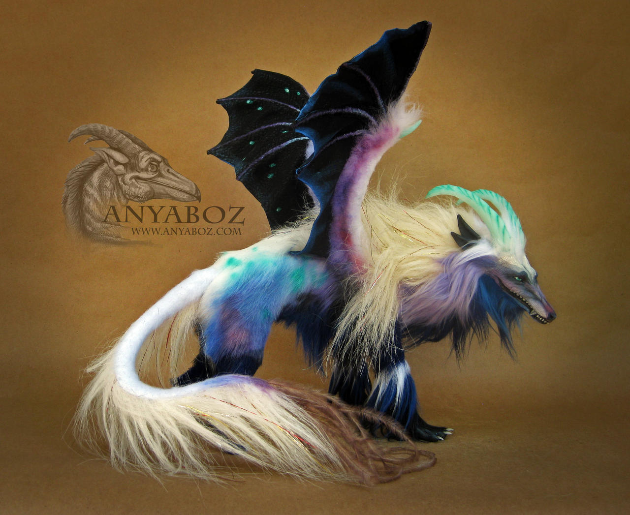 Prismatic Wolf Dragon Room Guardian by AnyaBoz