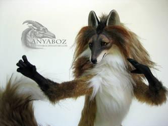 Bronze Fox Room Guardian by AnyaBoz