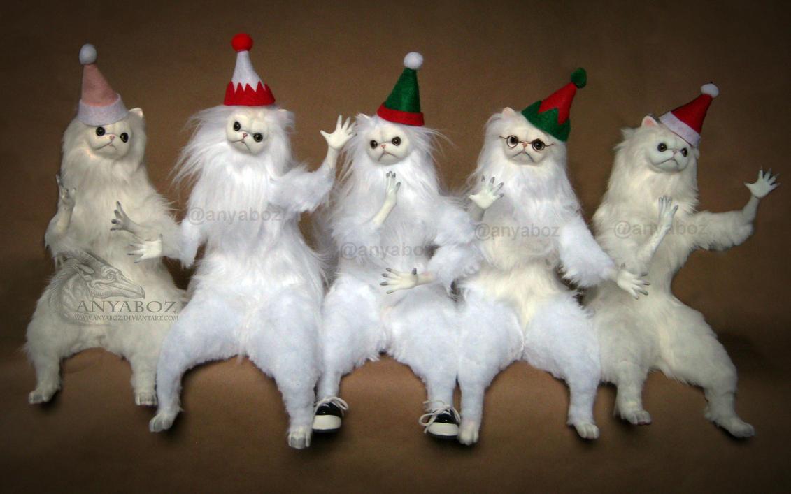 Christmas Persian Cat Room Guardians by AnyaBoz on DeviantArt
