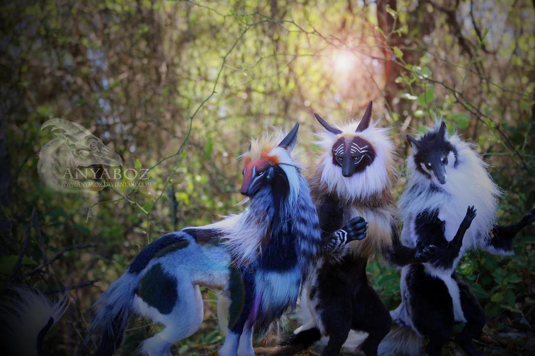 Room Guardian Original Species Trio by AnyaBoz