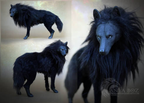 Onyx Wolf Room Guardian (FOR AUCTION)