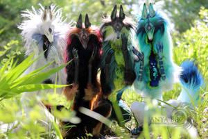 Elemental Diki Spirits by AnyaBoz