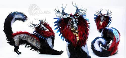 Scarlet Shadow Dragon Room Guardian by AnyaBoz