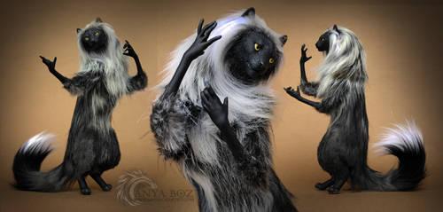 Smoky Siberian Cat Room Guardian by AnyaBoz