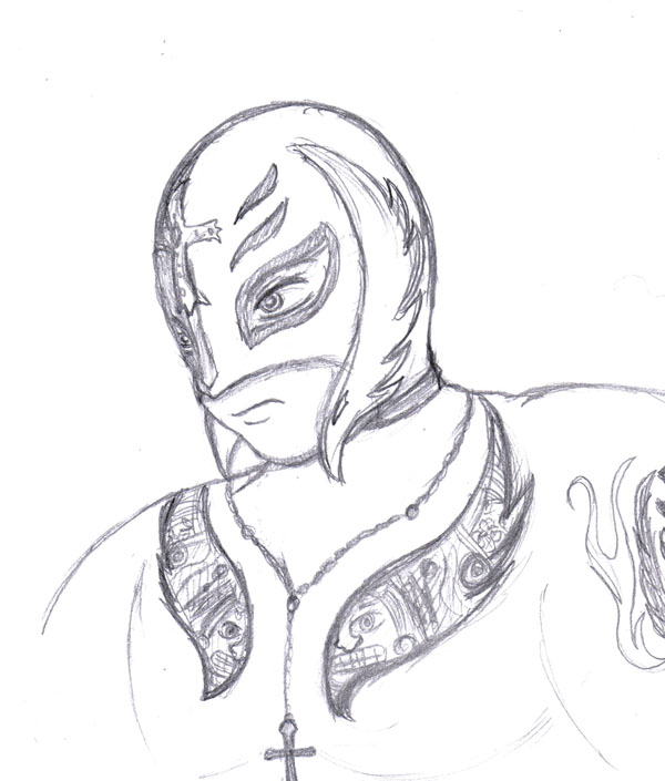 Wwe drawings of rey mysterio images for Rey mysterio mask coloring pages