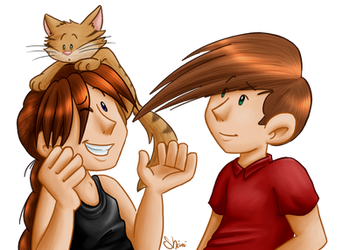get that cat off my head by Shini-Smurf