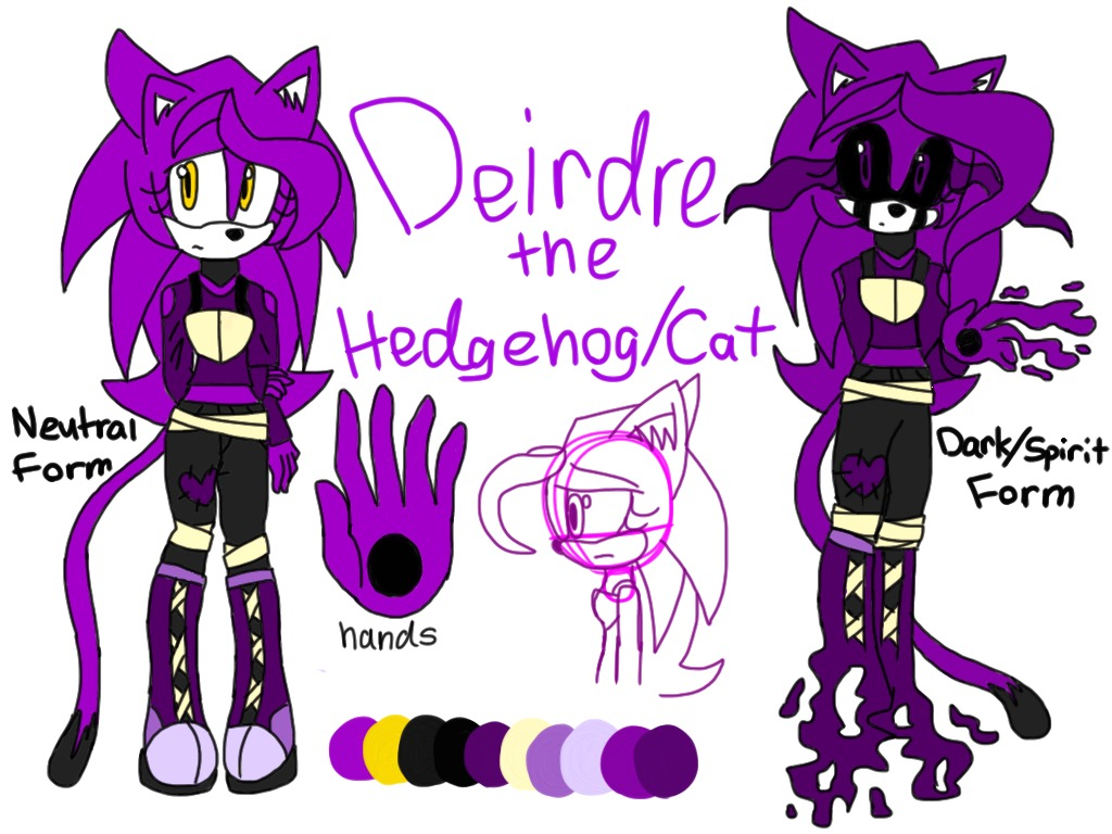 Deirdre The Hedgehog/Cat Reference By CatHedgehog On