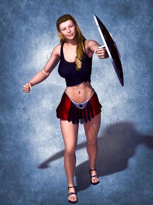 Female Shield Paladin by tartanninja