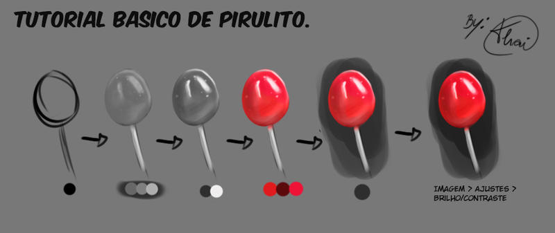How to Paint Lollipop - Simple by Thai-Draws