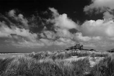 Bamburgh Castle mono by newcastlemale