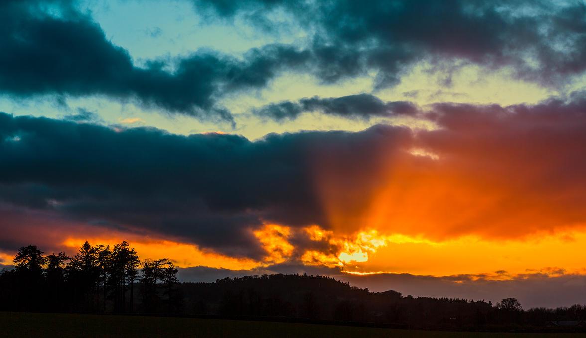 Northumberland Sunset by newcastlemale