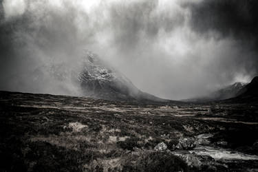 Stormy Buachaille by newcastlemale