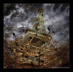 Eiffel Puddle Reflection