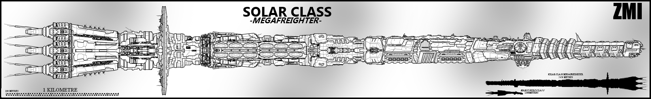 Solar Class Megafrieghter by Lineartbob