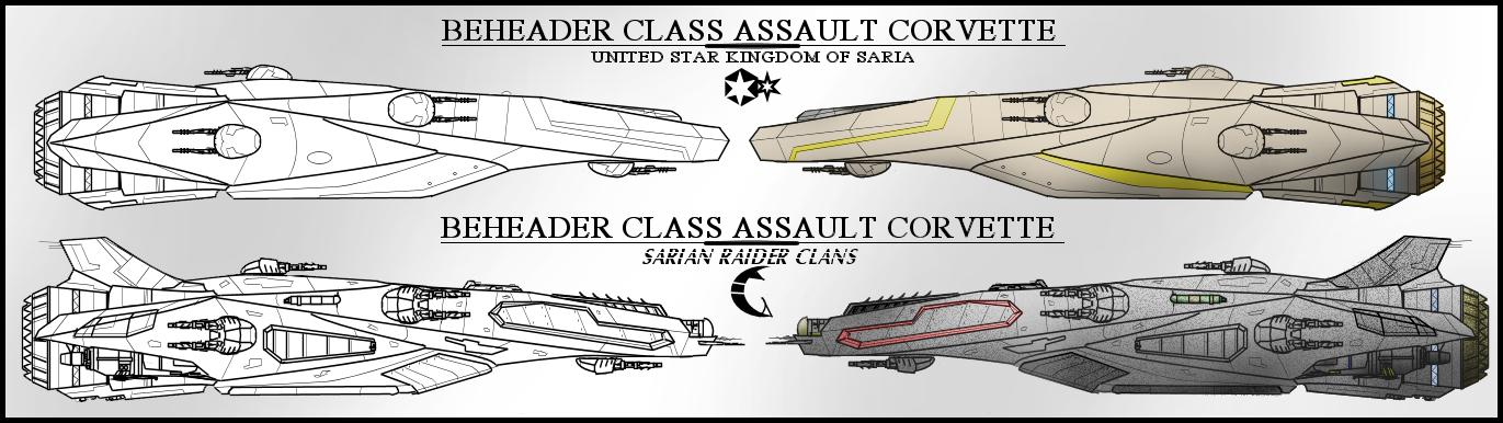 Beheader class Assault Corvette by Evilonavich