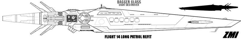 Dagger Light Destroyer Refit by Evilonavich