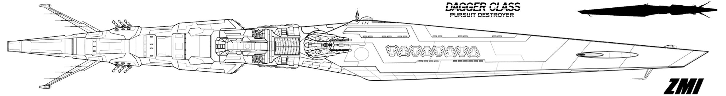 Dagger Pursuit variant Destroyer by Evilonavich