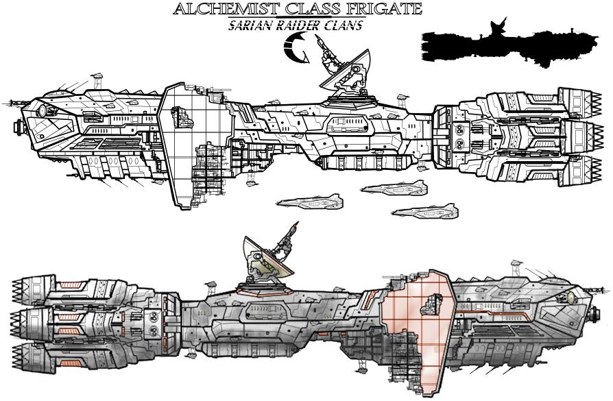 Alchemist class frigate by Evilonavich