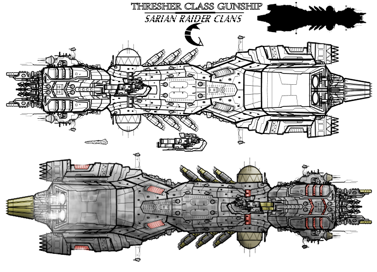 Thresher class Gunship by Evilonavich