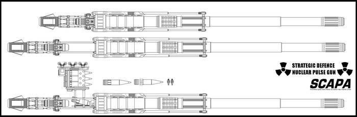 Nuclear Pulse Gun