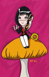 Dolly on the mushroom