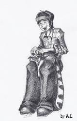 Michael and the lemur by AnnaLazareva