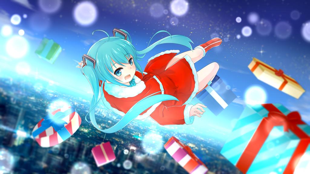 hatsune miku christmas wallpaper - photo #28