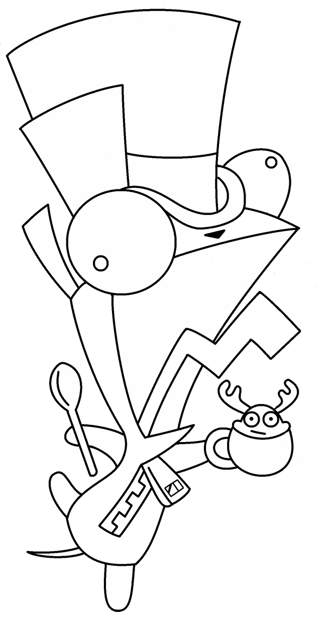 mad hatter coloring pages - photo#16